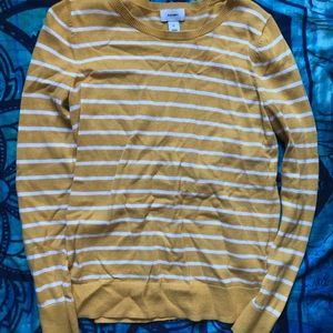 Yellow and white long sleeve
